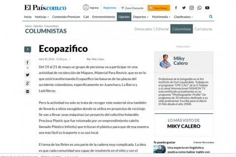 Articulo de Micky Calero en El País