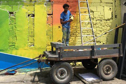 Mural con fundación culata